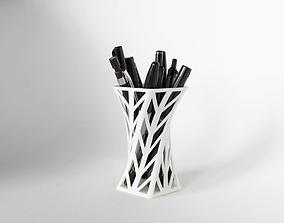 008f - Pen Holder - Wireframe - Arrowhead 3D print model 1