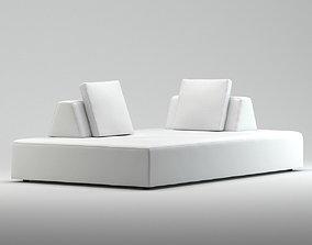 Domenico Fabric Modular Bench Jens Juul Eilersen 3D model