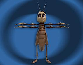 Cartoon cockroach 3D model game-ready