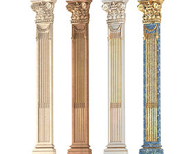 Pilaster Column in classic style 3D