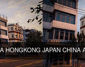 BUILDING URBAN AREA HONGKONG JAPAN CHINA ASIAN PACK 3D