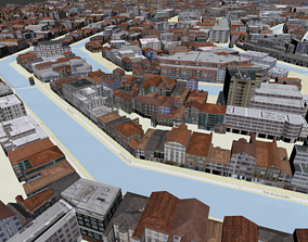 3D Amsterdam Topography Street map
