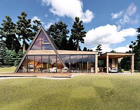 A-frame House IVANA Outdoor Kitchen DINO 3D model