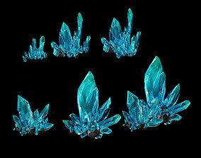 3D model Heterogeneous crystal combination 01