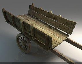 wooden cart 3D model props