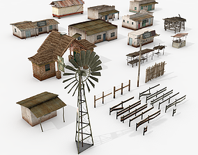 3D model Village Assets Collection