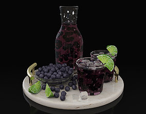 Blueberry juice 3D