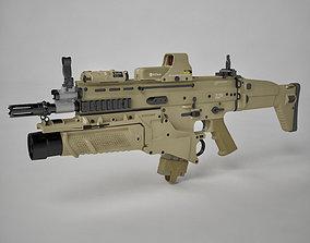 Combat Assault Rifle FN SCAR-H 3D