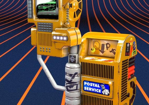 Futuristic Postbox Display