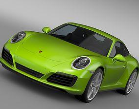 3D Porsche 911 Carrera S Coupe 991 2016