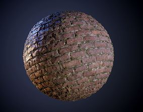 Brick Wall Dirty Grunge Vines Seamless PBR Texture 3D