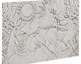 Bas-relief with deer 3D model