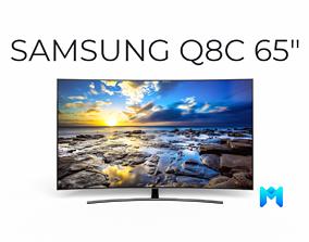 3D model Samsung 65 inch Q8C QLED TV