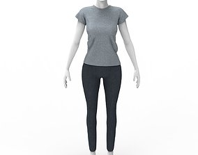 3D FREE Woman T-shirt and Jeans - Marvelous Designer - 1