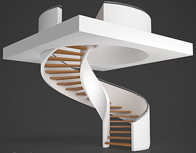 Spiral staircase 02 3D model