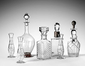 3D model crystal Crystal Drinking Set