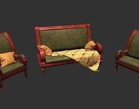 3D model Old furniture set