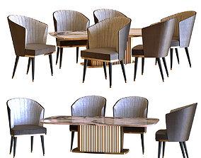 chair table set a1 3D model