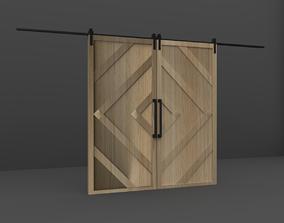 Sliding Wood Door 3D model