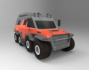 8X8 Russian Centipede Truck 3D asset