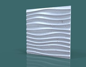 wall decor seamless wave 3d stl model for cnc cncwall