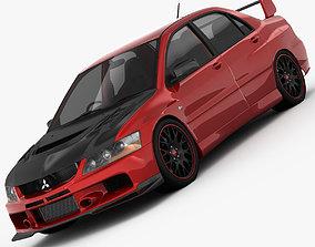 3D model Mitsubishi Lancer Evo 9 Carbon 2007