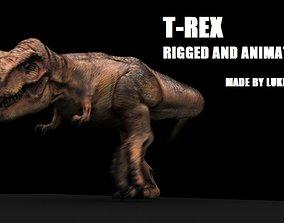 Tyrannosaurus Rex Model Rigged animated