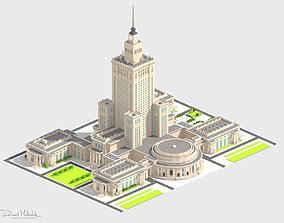 3D model Monumental Skyscrapper Low Poly