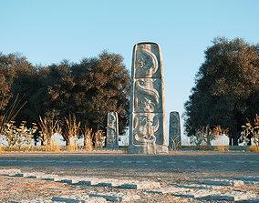Ancient stone sculpture 3D model