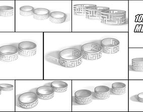 10 meandr rings pack 3D print model