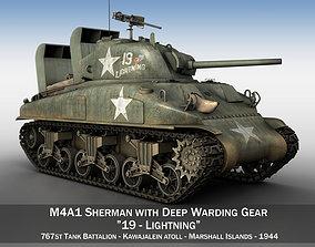 3D model M4A1 Sherman - Lightning marines