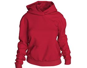 character 3D digital woman hoodie