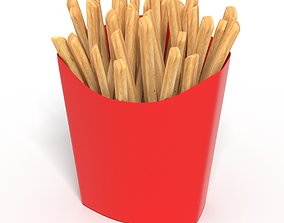 French Fries Hot chips Food Pack 3D