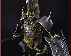 Skeleton Hero Lieutenant 3D model animated
