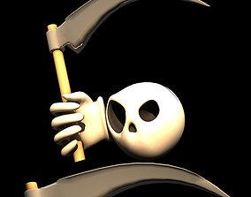 3D Death Smile Halloween