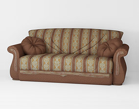 Armchair sofa Low-poly 3D model game-ready
