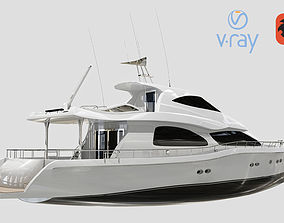 Luxury Yacht Low Poly 3D model