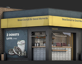 3D Fast food restaurant Donut Mania