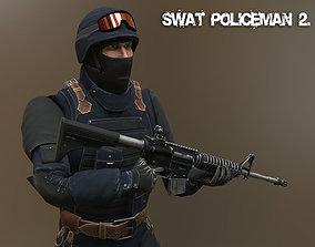 Swat Policeman 2 3D model