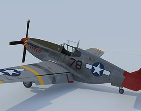 3D animated P-51C Mustang Tuskegee