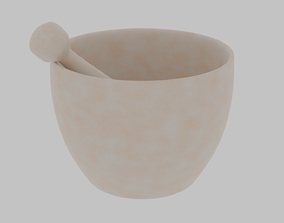 Pestle and mortar 3D asset