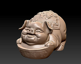 Lucky pig 3D printable model traditional
