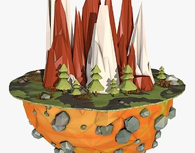 3D model Cartoon Planet Landscape