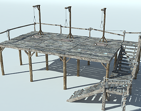 3D Medieval Gallows