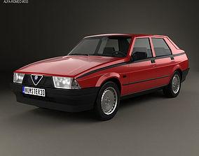 3D Alfa Romeo 75 1985