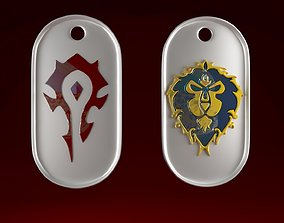 World Of Warcraft aliance alliance and Horde 3D print