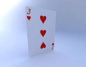 3D model Three of Hearts