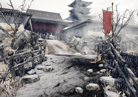 Japanese Snowy Temple