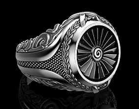 jewellery Men ring turbine 3D print model