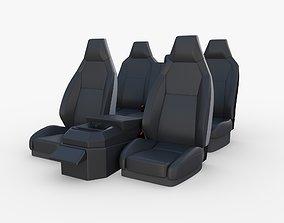 Tesla Cybertruck Seats Dark 3D model